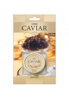 Caviar negro de esturion  AMUR ROYAL 30gr lata LEMBERG