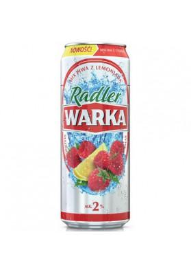 Cerveza WARKA RADLER sabor frambuesa limon 2%alc.24x0.5L lata