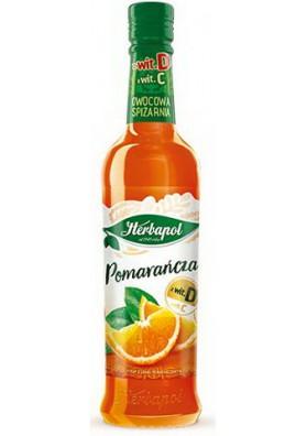 Jarabe con sabor de naranja 8x420ml HERBAPOL