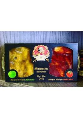 Шпроты (ДУЭТ) 120г.+120г. яблочный+томатный соусы  BRIVAIS VILNIS новинка