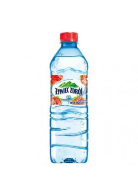 Agua mineral sin gas con sabor a fresa 500ml.ZYWIEC ZDROJ
