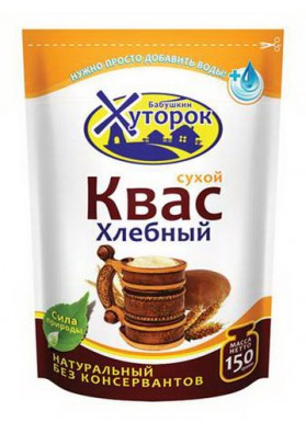 Preparacion para bebida fermentada KVAS JLEBNIY en seco 24x150gr HUTOROK