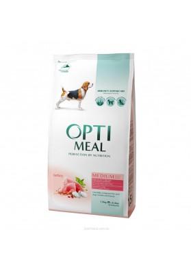 Comida completa seca para los perros adultos medianos PAVO 1,5 kg.OPTI MEAL