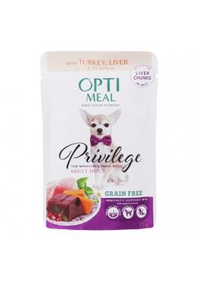 Comida completa para perros de razas miniatura CON PAVO EN GELATINA 85gr.OPTI MEAL