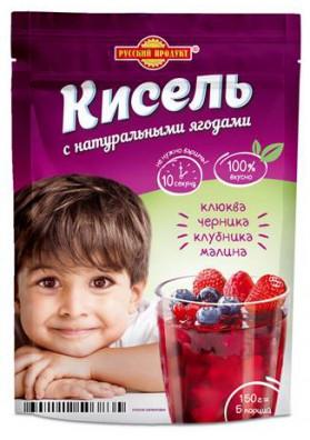 Kisel (gelatina) de BAYAS DEL BOSQUE coccion instantanea 150gr.PRODUCTO RUSO