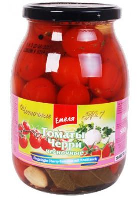 Tomates concervados con ajo  CHERRY 1000gr. EMELA