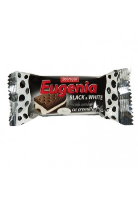 Galletas de cacao EUGENIA (Black & White) con crema de leche 24x36gr.DOBROGEA