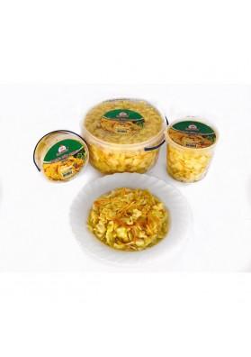 Hojas de col amarilla para ensalada en cubo 450gr.SMACZNA TRADYCIA