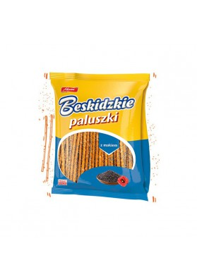Palitos de pan BESKIDZKIE con semillas de amapola 175gr.AKSAM