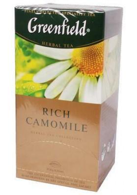 Te Greenfield  RICH CAMOMILE  10x25x2gr