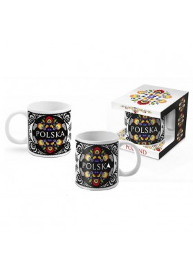 Taza de porcelana BOSS (Folk Nr.1) 300ml.POLONIA