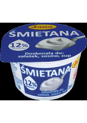 Crema agria 12%grasa 12x200gr.JANA