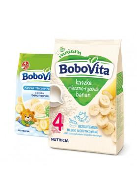 Papilla para niños de aroz con leche sabor platano 9x230gr BOBOVITA