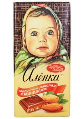 Молочный шоколад  АЛЕНКА с миндалем 100гр КО