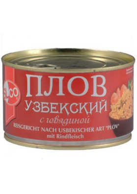 Papilla de aroz (plov) uzbeco con ternera 8x375gr SLCO