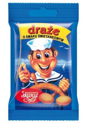 Bombones glaseado sabor crema 70gr SKAWA