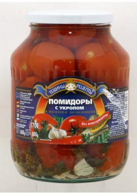 Tomates conservados PO-NEZHENSKI con ajo y eneldo 6x1600gr.TR