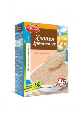 Хлопья гречневые 14х400гр.UVELKA
