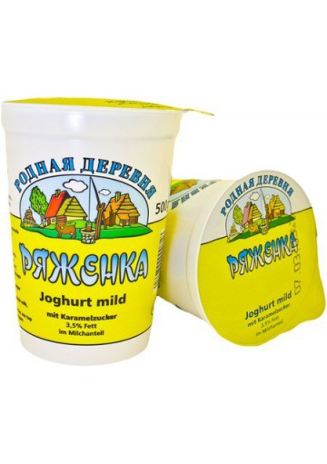 Yogur suave con azucar de caramelo 3,5% grasa 12x500gr.RD