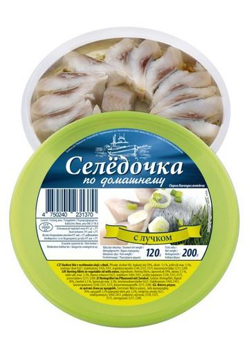Filete  de arenque con cebolla 200gr SLCO