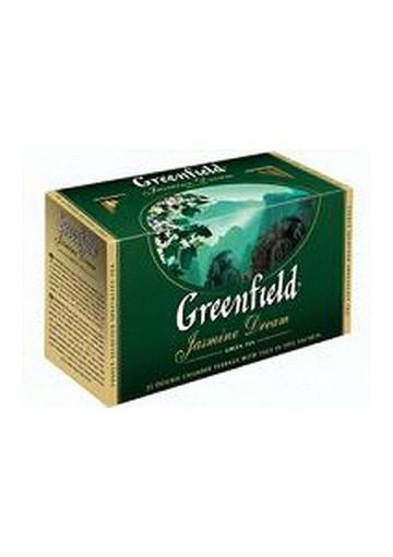 Te GREENFIELD verde con jasmin 25x2gr.
