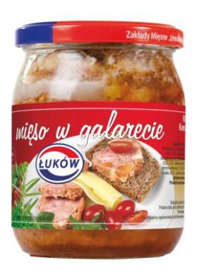 Carne de cerdo en gelatina 12x460gr LUKOW