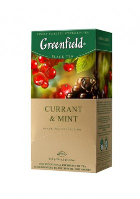 Te GreenfieldCURRANT& MINT 10x25x1.8gr