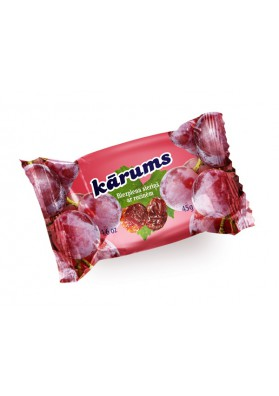 Requeson dulce bañado en chocolate con pasas de uva 40x45gr KARUMS
