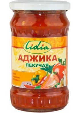 Salsa picante ADZHIKA PEKUCHAYA 300gr LIDIA
