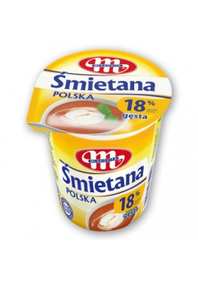Crema agitada 18%grasa 400gr MLEKOVITA