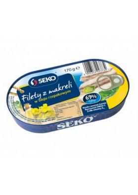 Filete de caballa en aceite de colza 10x170gr SEKO