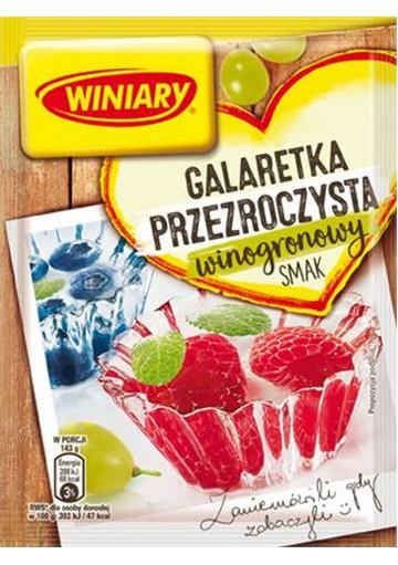 Jalea transparente sabor uva 22x71gr WINIARY