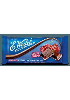 Chocolate GORZKA sabor guinda 20x100gr WEDEL