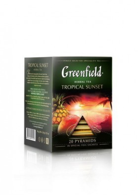 Te Greenfield en piramidas  TROPICAL SUNSET 16x20x1.8gr