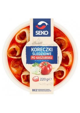 Filete de arenque  KORECZKI PO-KASZUBSKU 12x220gr SEKO
