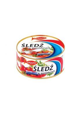 Conserva  ARENQUE en salsa de tomato 12x300gr GRAAL