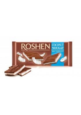 Chocolate de leche relleno de nuga de coco 20x90gr ROSHEN