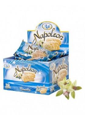 Pastel con crema de vanilla NAPOLEON 10x90gr AGI