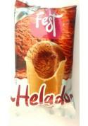 Helado de crema con sabor de chocolate 30x140ml.FEST