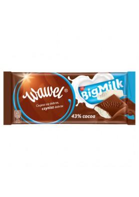 Chocolate con relleno de leche BIG MILK 43% de cacao 18x100gr.WAWEL