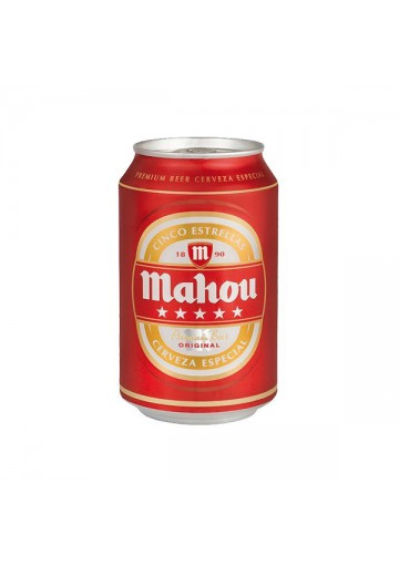 Cerveza MAHOU (cinco estrellas) 24x0,33L. 5.5%alc.lata