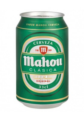 Cerveza MAHOU (clasica) 24x0,33L. 4.8%alc.lata