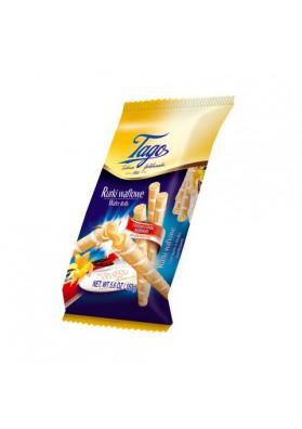 Tubos de barquillos con crema de vanilla 14x150gr TAGO