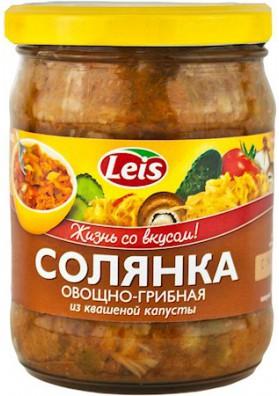 Sopa de verduras y champiñiones y col fermentada SOLYANKA 10x480gr LEIS