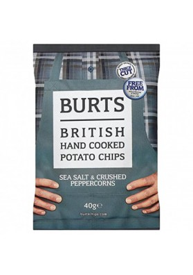 Patatas chips fritas a mano BURTS con sabor a sal y pimienta 40gr.nuevo