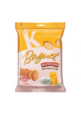 Picatostes de pan con sabor a crema agria y queso 32x50gr.KIRIESHKI nuevo