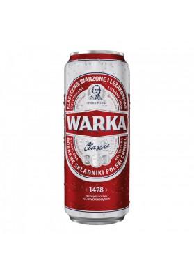 Cerveza WARKA classic (1478) 5,2%alc.24x0,5L.enlatada nuevo