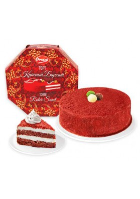 Торт КРАСНЫЙ БАРХАТ замороженный 950гр.FRUSCH новинка