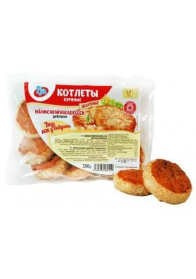 Hamburguesas de pollo EL GUSTO DE LA ABUELA frito congeladas 500gr.(10x1) 7JA