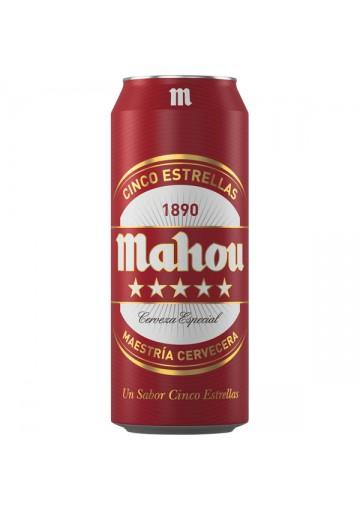 Cerveza MAHOU (cinco estrellas) 24x0,5L. 5,5%alc.lata